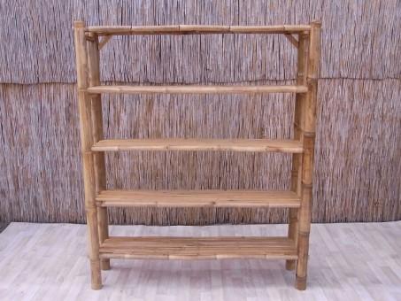 Bambus-Bücherregal 180 cm
